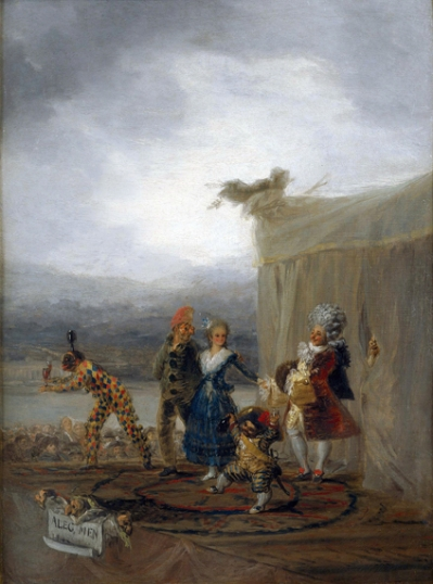 The traveling comedians 1793