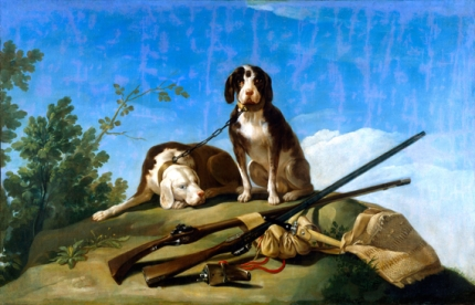 Dogs and hunting gear 1776