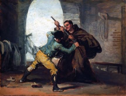 Friar Pedro wrests the gun from El Maragato 1806