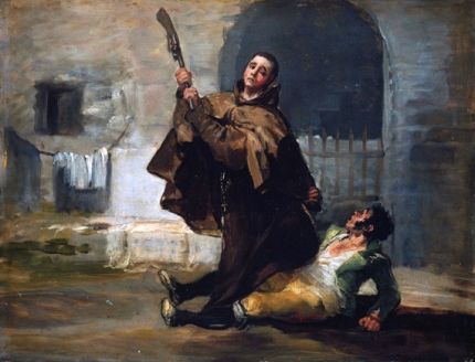 Friar Pedro Clubs El Maragato with the Butt of the Gun 1806