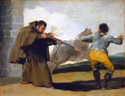 Friar Pedro shoots El Maragato as his horse runs off 1806