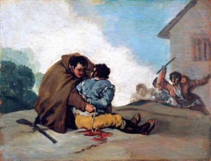 Friar Pedro Binds El Maragato with a Rope 1806