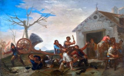 The fight at the Mesón del Gallo 1777