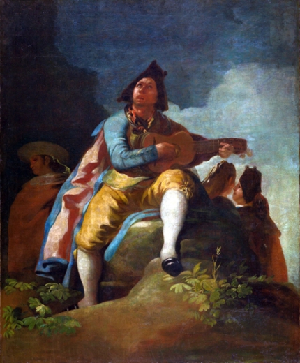 Majo with a guitar 1779
