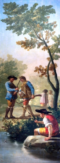 The fisherman with his rod 1775