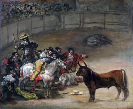 Bullfight, Suerte de Varas 1824
