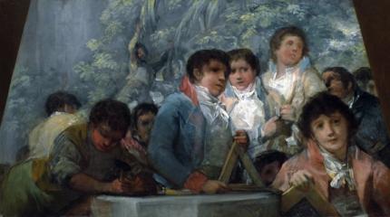Students from the Pestalozzian Academy (fragment)