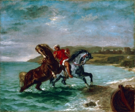 Horses Coming Out of the Sea 1860