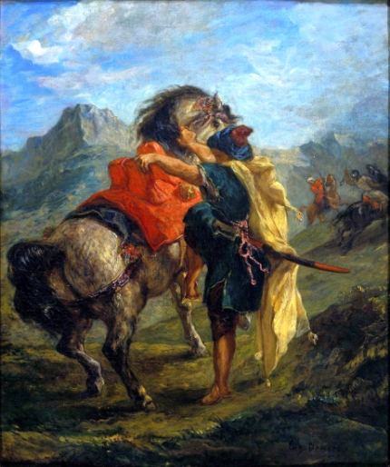 A Moroccan Mounting His Horse, 1854