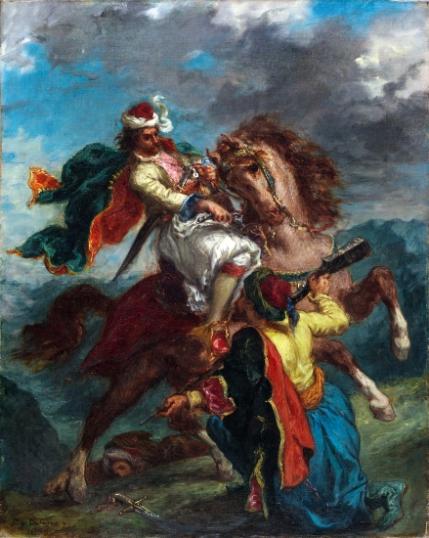 A Turk Surrenders To a Greek Horseman 1856