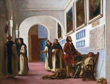 Christopher Columbus and His Son at La Rábida 1838