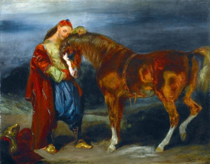 Young Turk Stroking His Horse 1825