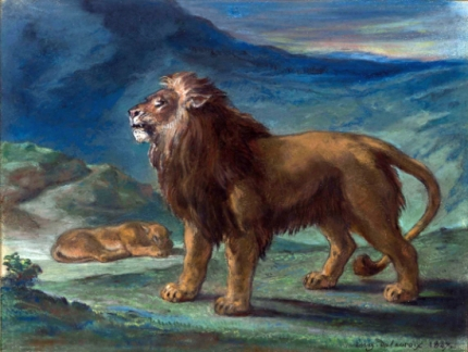 Lion and Lioness in the Mountains 1847
