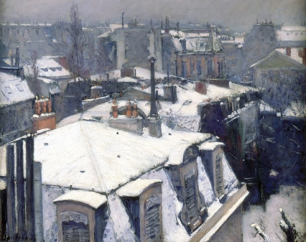 Rooftops in the Snow (Snow Effect) 1878