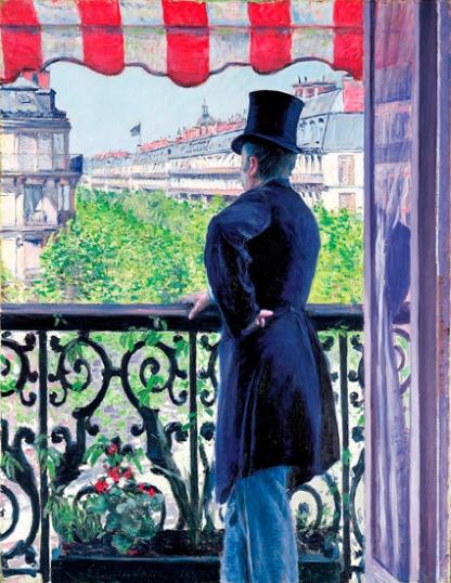 L'homme Au Balcon, Boulevard Haussmann