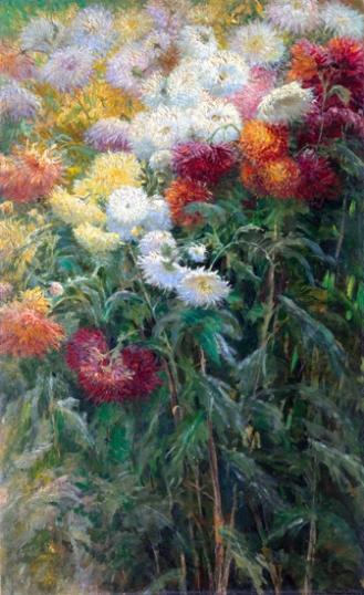 Chrysanthemums in the Garden at Petit-Gennevilliers 1893