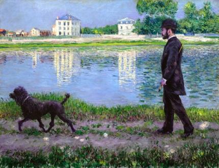 Richard Gallo Et Son Chien Dick, Au Petit-Gennevilliers 1884