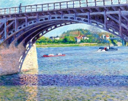 Le Pont D'argenteuil Et La Seine 1883-2