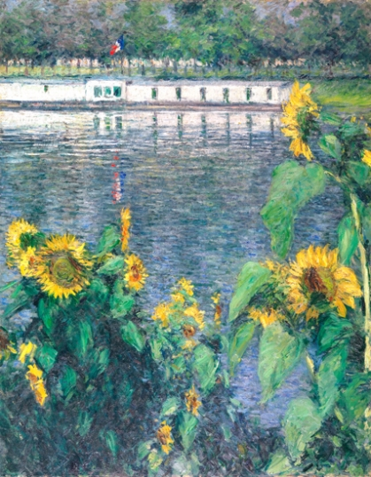 Sunflowers Along the Seine