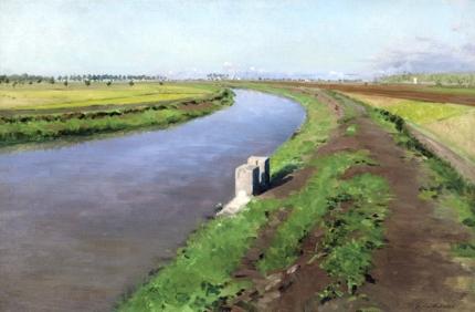 Bord D'un Canal, Près De Naples 1872