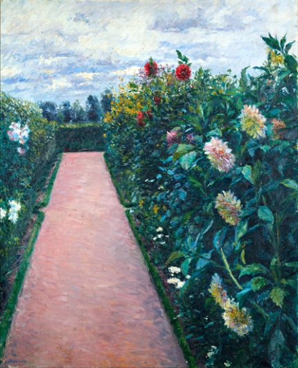 Garden Path with Dahlias in Petit Gennevilliers