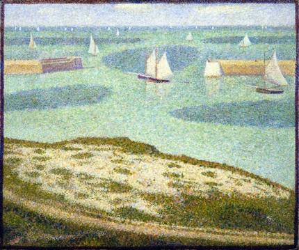 Port-En-Bessin, Entrance To The Harbor 1888