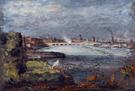 The Opening of Waterloo Bridge, Seen from Whitehall Stairs, London, 18 June 1817