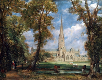 Salisbury Cathedral from the Bishop's Grounds 1825
