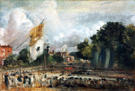The Celebration in East Bergholt of the Peace of 1814 1824