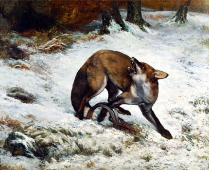 Fox Caught in a Trap 1860