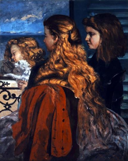 Three Young Englishwomen by a Window 1865