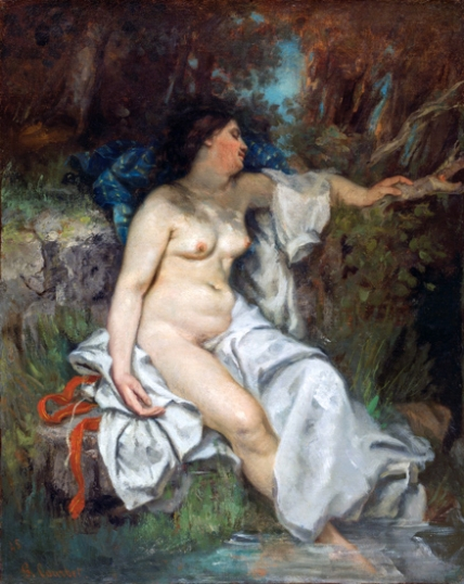 Bather Sleeping by a Brook 1845