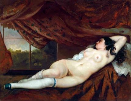 寝床の女性