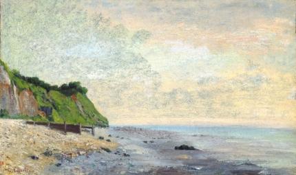 Cliffs On the Sea Coast- Small Beach, Sunrise 1865