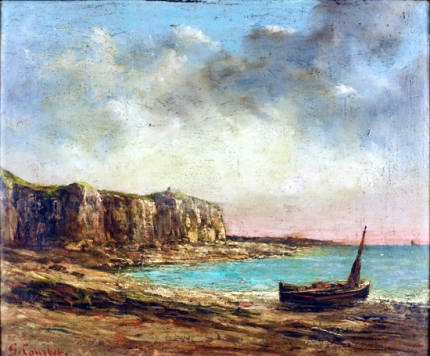 View of the Normandy Coast