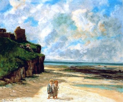 The Beach at Saint-Aubin-Sur-Mer 1867