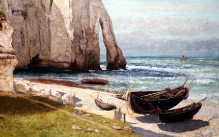 The Cliff of Etretat after the Storm 1870