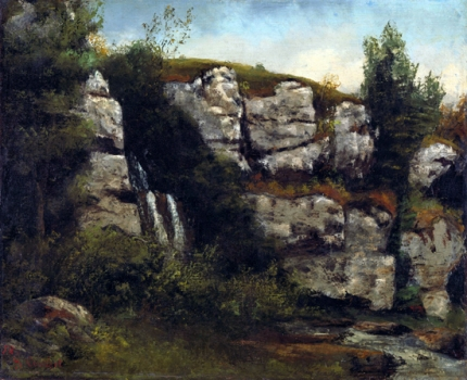 Landscape with Rocks and Waterfall 1872