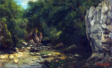 A Brook at Le Puits Noir, Near Ornans 1864