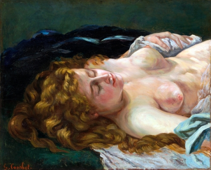 Sleeping Woman with Red Hair 1864