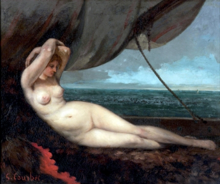Nude Reclining by the Sea, 1868