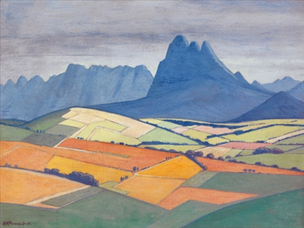 A View in the Stellenbosch Valley, with Simonsberg and the Hottentots Holland Beyond