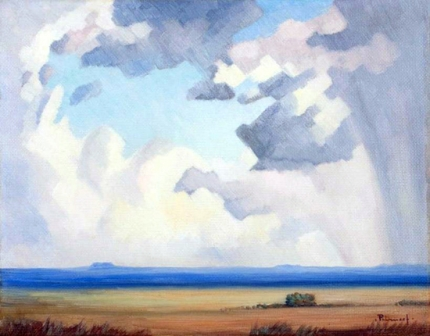 An Extensive landscape with an Approaching Storm