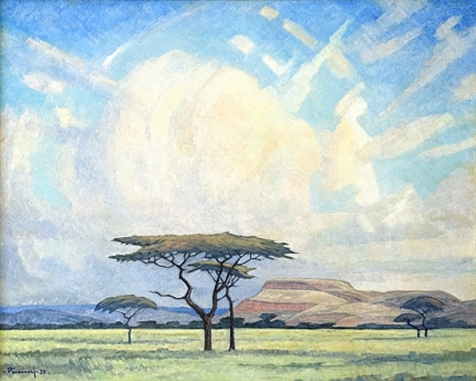Landscape with Acacias and Clouds