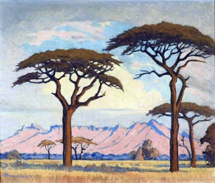 Landscape with Trees, South West Africa