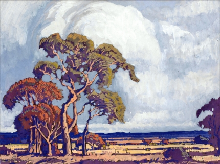 Trees and Storm Clouds on the Veld