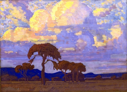 Highveld landscape with Clouds