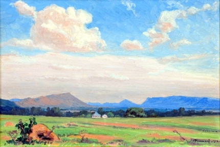 A landscape with a Farm in the Distance