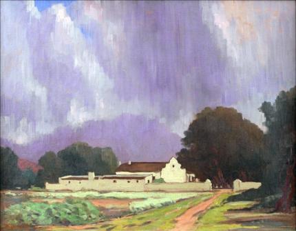 Summer Rain Over a Cape Farmhouse