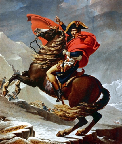 Napoleon Crossing the Alps (Charlottenburg version) 1801